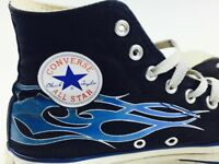 5e6f2544238 Converse All Stars Basketball Shoes High Tops Blue Flame Converse shoes Size  8