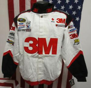 GREG BIFFLE 3M NASCAR JACKET RACING MENS VINTAGE RETRO VTG STITCH MENS CHASE WHT