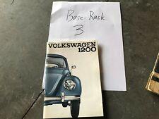Volkswagen VW Beetle Bug 1200 Owners Manual 1965 NOS