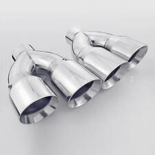 "Pair 3"" Inlet QUAD Staggered 4 inch Out Exhaust Tips For Firebird Camaro LS1 SS"