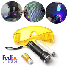Car A/C Cooling System Test Kit Uv Leak Detector Oil w/ Tester Light Glasses Usa