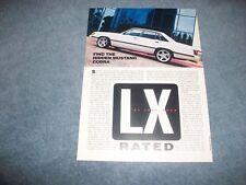 """1985 Ford LTD LX RestoMod Article """"LX Rated"""""""