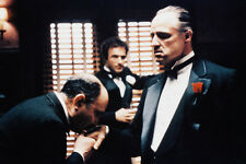 Marlon Brando As Don Vito Corleone The Godfather 11x17 Mini Poster Hand Kissing.