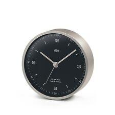 Barigo Quarz-Uhr Messing vernickelt matt Ø10cm Design Wanduhr Tischinstrument