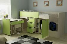 Etagenbett Mit Richtigem Lattenrost : Paidi biancomo etagenbett mit kleiderschrank und gästebett