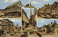 "Rare Vintage Postcard House/Hotel/Church/Street ""Ledbury"" Town, England Unposted"