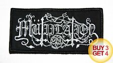 MUTIILATION PATCH,BUY3GET4,PESTE NOIRE,SATANIC WARMASTER,FRENCH BLACK METAL,MGLA