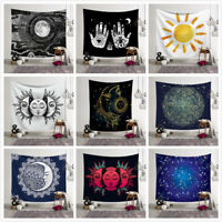 Psychedelic Moon and Sun Wall Hanging Beach Towel Art Tapestry Dorm Home Decor