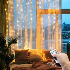 Christmas Led Fairy Lights Garland Curtain String Lights Remote Control USB