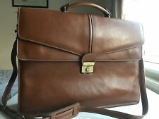 Texier Tan Leather Briefcase Ladies Classic