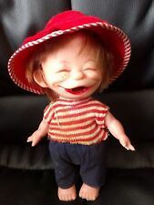 "Vintage Evergreen Freckle Face country boy 6.5"" Plastic Doll Hong Kong Cute"