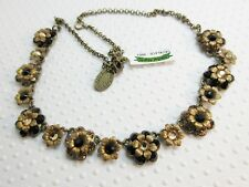 NWT $263 Michal Negrin Black & Light Colorado Topaz color Statement Necklace