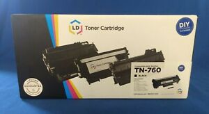 LD Black Toner Cartridge TN-760 - Compatible with Brother - DIY Tool Included