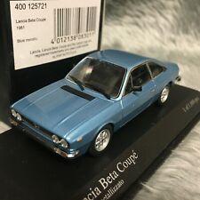 Minichamps 1:43 1981 Lancia Beta Coupé Blue Metallic 400-125721
