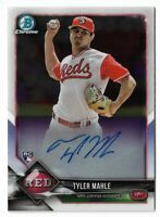 2018 Bowman chrome baseball CRA-TM Tyler Mahle Chrome rookie autograph