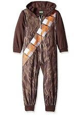 Star Wars CHEWBACCA Costume Fleece Pajamas Boy's 6 NeW Zip-Up Hooded Pjs NWT