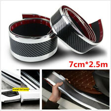 2.5M*7cm Car SUV Door Sill Scuff Pedal Protect Cover Side Body Skirt Decor Strip