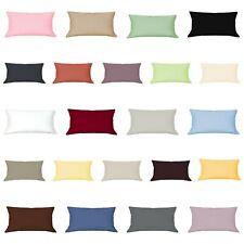Mako Satin Kissenbezug 60 x 80 cm Kissenhülle Kopfkissen Hülle Uni 100%Baumwolle