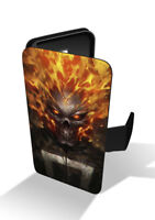Ghost Rider Marvel Anti-Hero Wallet Leather Phone Case Cover