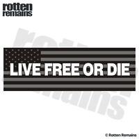 "Live Free or Die Subdued American Flag Bumper 9""x3"" USA Decal Sticker ZU1"