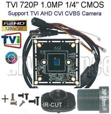 "Tvi Hd 720P 1.0mp 1/4"" 4in1 Cctv Board Camera Osd Menu +Ir- Cut 2Mp3.6m Lens"