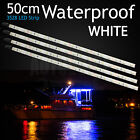 6 X 50CM White Boat Marine LED Strip Light Caravan Auto Bar Camping Waterproof