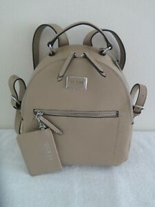 Guess RONNIE Backpack CARAMEL Shoulder Bag w/Card Case Set SF510431