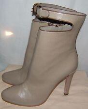 Mui Mui by Prada Creme Designer Leather Boots Size 9