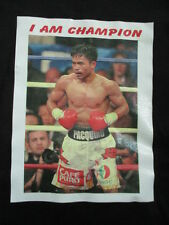 "Hanes Label - Manny Pacquiao ""Pac Man"" I Am Champion (Lg) T-Shirt"