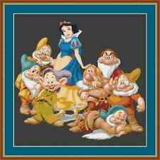 Snow White And The Seven Dwarves Cross Stitch Kit