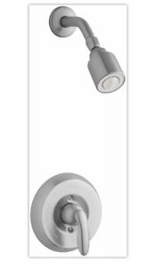 Kohler TS15611-4G-G Rite-Temp shower valve trim with lever handle and 1.75 gp...