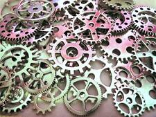 "40g 1"" to 3/8"" New Gears VARIETY SILVER Steampunk Watch Parts Clock Wheels =26+-"