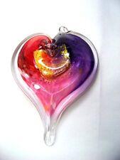 Luke Adams Glass Heart Shaped Pendant - 5 Color Selections