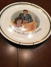 President and Mrs. John F. Kennedy Collector's Plate w Gold Trim
