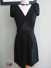 Maje Black V Neck Career Dress Size M