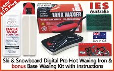 Ski & Snowboard Digital Hot Waxing wax Iron +Base All Temp wax Kit, DIY & save $