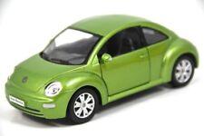 "6.5"" Kinsmart VW Volkswagen Beetle New Diecast Model Toy Car 1:24 Green"