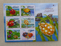 2014 ALDERNEY LADYBIRDS SET OF 6 MINT STAMPS MINI SHEET