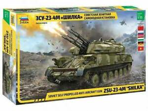 Anti-aircraft gun ZSU-23-4M Shilka model kit 1/35 Zvezda