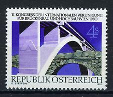AUSTRIA 1980 MNH SC.1163 Bridge engineering