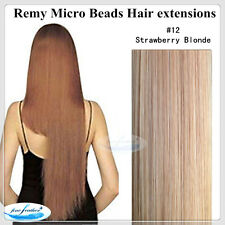 """24"""" 100% Indian Human Remy Micro Beads I Tip Hair extensions DOUBLE DRAWN 100g"""