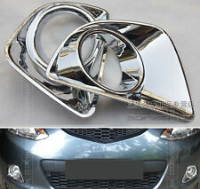 FOR 07~10 MAZDA 2 SEDAN FRONT FOG LIGHT LAMP CHROME COVER TRIM GARNISH MOLDING