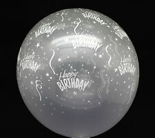 20X Latex clear Transparent Balloon Happy Birthday kid Party Supplies Arch decor