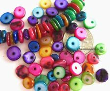 "MultiColor Shell DISCs Irregular Loose Beads, 16""200+"