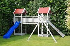 Spielturm Vaxe Kletterturm Kletterhaus Rutsche Doppelschaukel Baumhaus Spielhaus