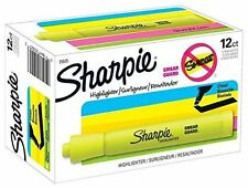 Sharpie Accent Highlighter Chisel Tip Fluorescent Yellow 12 CT + 3 FREE - READ