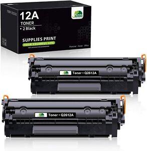 JARBO Q2612A Cartouches de toner noir (x2) Compatible pour HP 12A *NEUF*
