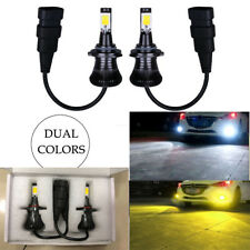 2* 9005 HB3 9006 HB4 LED Fog Light Bulb Yellow White Dual Colors car Replacement