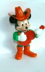 VINTAGE MICKEY MOUSE PLAYING GUITAR WIND UP TOY ILLCO