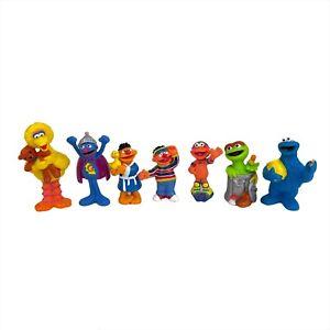 Vintage Sesame Street Figures Cookie Monster, Big Bird, Ernie 1997 TYCO HENSON